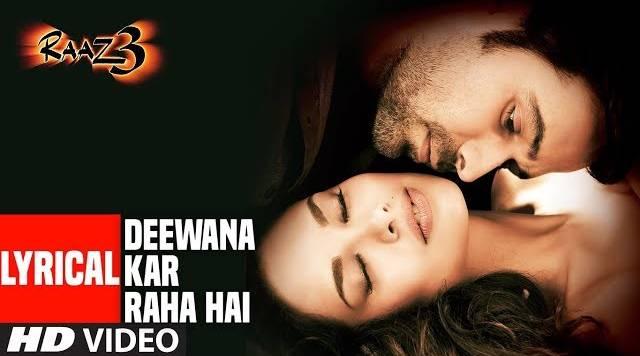 Deewana Kar Raha Hai Tera Roop Sunehra Lyrics - Raaz 3